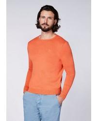 orange Pullover mit einem Rundhalsausschnitt von Chiemsee