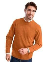orange Pullover mit einem Rundhalsausschnitt von Classic