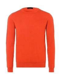 orange Pullover mit einem Rundhalsausschnitt von Falke