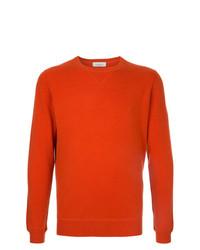 orange Pullover mit einem Rundhalsausschnitt von Laneus