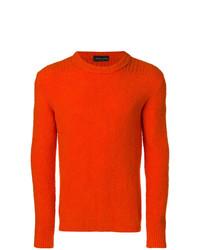 orange Pullover mit einem Rundhalsausschnitt von Roberto Collina