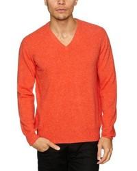 orange Pullover mit einem V-Ausschnitt von Alan Paine