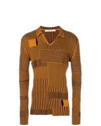 orange Pullover mit einem V-Ausschnitt von Damir Doma