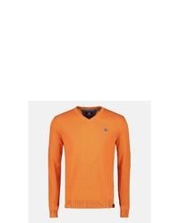 orange Pullover mit einem V-Ausschnitt von LERROS