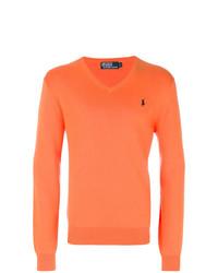 orange Pullover mit einem V-Ausschnitt von Polo Ralph Lauren