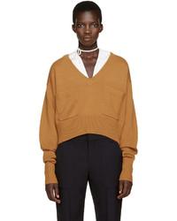 orange Pullover mit einem V-Ausschnitt von Chloé