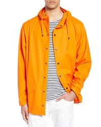 orange Regenjacke