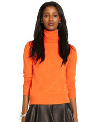 orange Rollkragenpullover