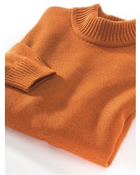 orange Rollkragenpullover von Classic
