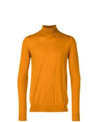 orange Rollkragenpullover von Paolo Pecora