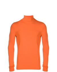 orange Rollkragenpullover von Raf Simons