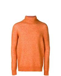 orange Rollkragenpullover von Roberto Collina