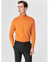 orange Rollkragenpullover von Selected Homme