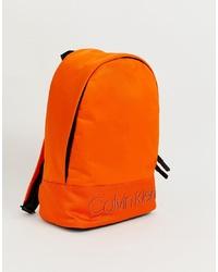 orange Rucksack von Calvin Klein