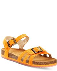orange Sandalen
