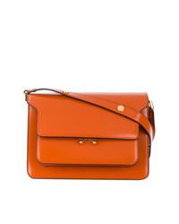 orange Satchel-Tasche aus Leder von Marni