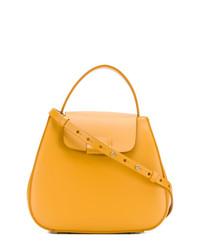 orange Satchel-Tasche aus Leder von Nico Giani