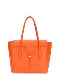 orange Satchel-Tasche aus Leder von Tod's
