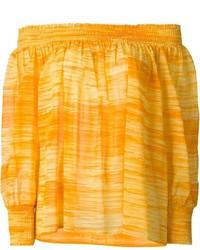orange schulterfreies Oberteil