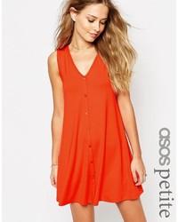 orange schwingendes Kleid