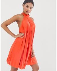 orange schwingendes Kleid von ASOS DESIGN