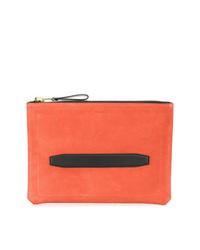 orange Segeltuch Clutch Handtasche