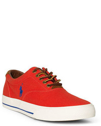 orange Segeltuch niedrige Sneakers