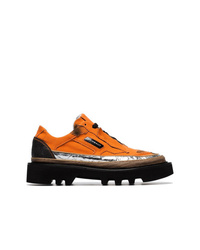 orange Segeltuch niedrige Sneakers von Rombaut