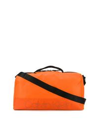 orange Segeltuch Sporttasche von Calvin Klein
