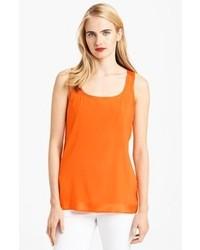 orange Seide Trägershirt