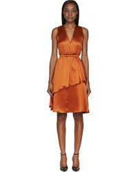 orange Seidekleid von Givenchy