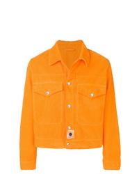 orange Shirtjacke aus Cord