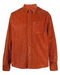 orange Shirtjacke aus Cord von Kenzo