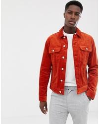 orange Shirtjacke von ASOS DESIGN