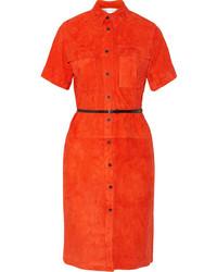 orange Shirtkleid von Victoria Beckham