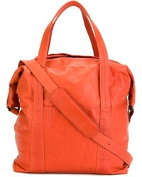 orange Shopper Tasche aus Leder