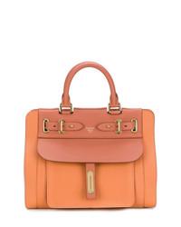 orange Shopper Tasche aus Leder von Fontana