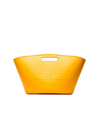 orange Shopper Tasche aus Leder von Gucci