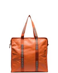 orange Shopper Tasche aus Leder von Heron Preston