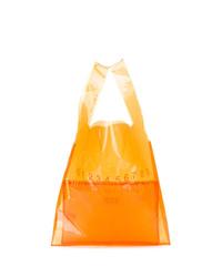 orange Shopper Tasche aus Leder von Maison Margiela