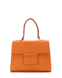 orange Shopper Tasche aus Leder von Sarah Chofakian