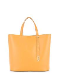 orange Shopper Tasche aus Leder von Sophie Hulme