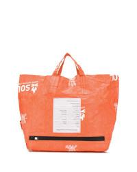 orange Shopper Tasche aus Leder von Takahiromiyashita The Soloist