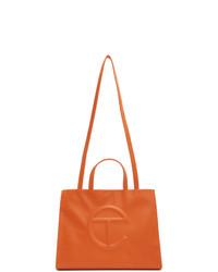 orange Shopper Tasche aus Leder von Telfar
