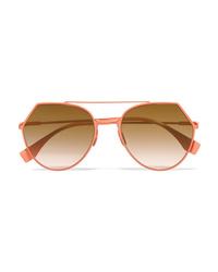 orange Sonnenbrille von Fendi
