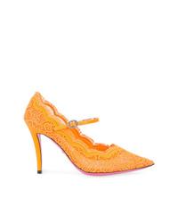orange Spitze Pumps von Gucci