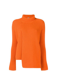 orange Strick Rollkragenpullover von MRZ