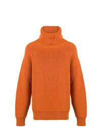 orange Strick Rollkragenpullover von Tom Ford