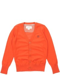 Orange Strickjacke