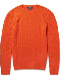 orange Strickpullover